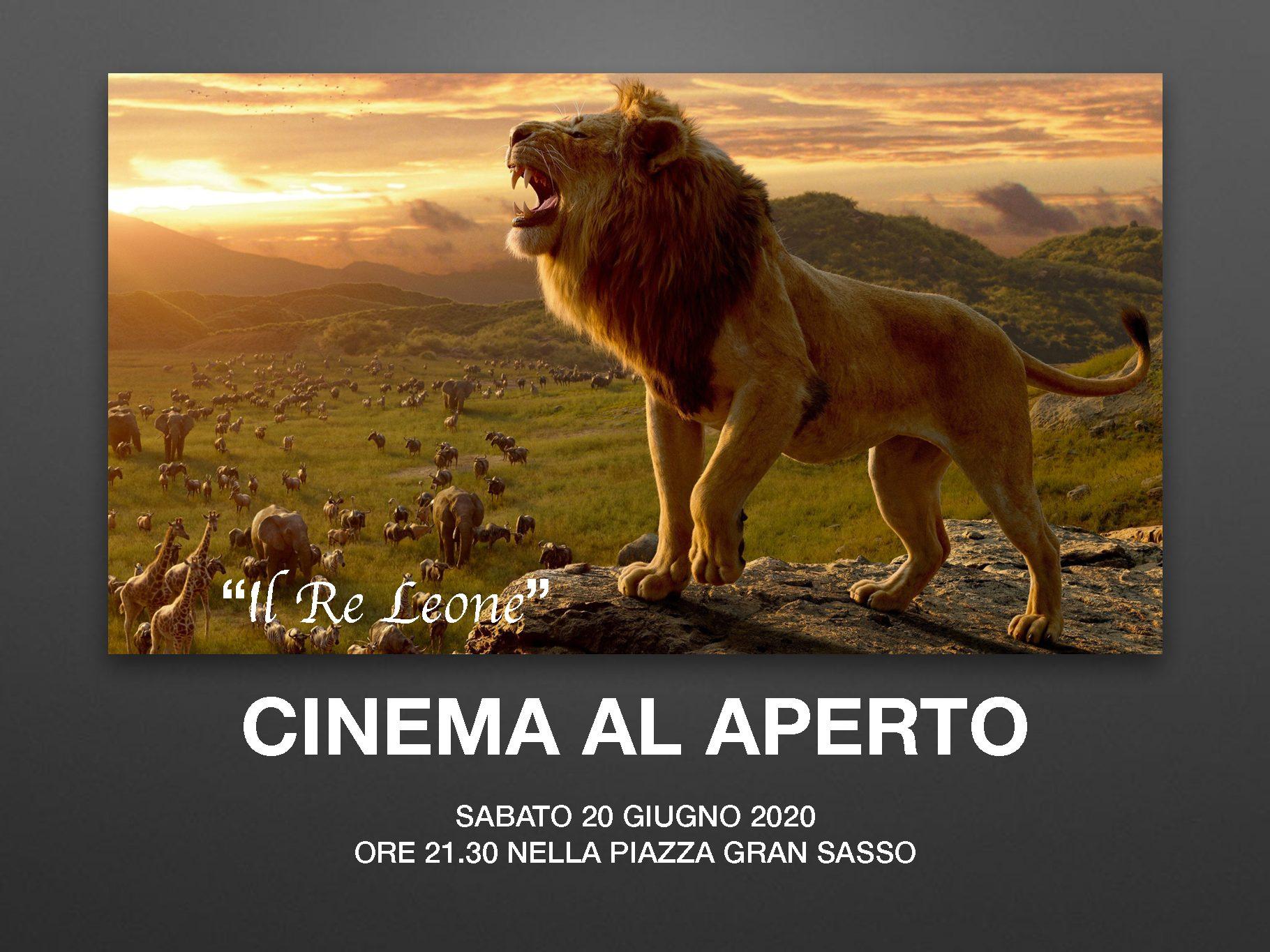 Cinema all'aperto – Sabato sera 20 Giugno