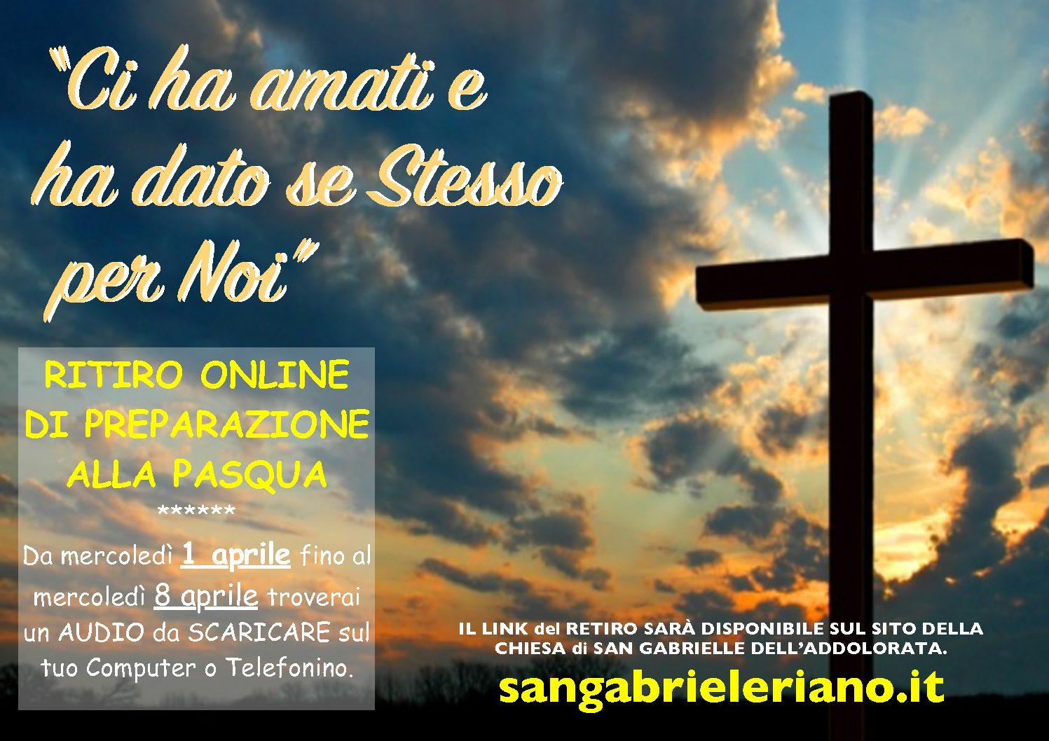 Ritiro online di preparazione alla Pasqua 2020