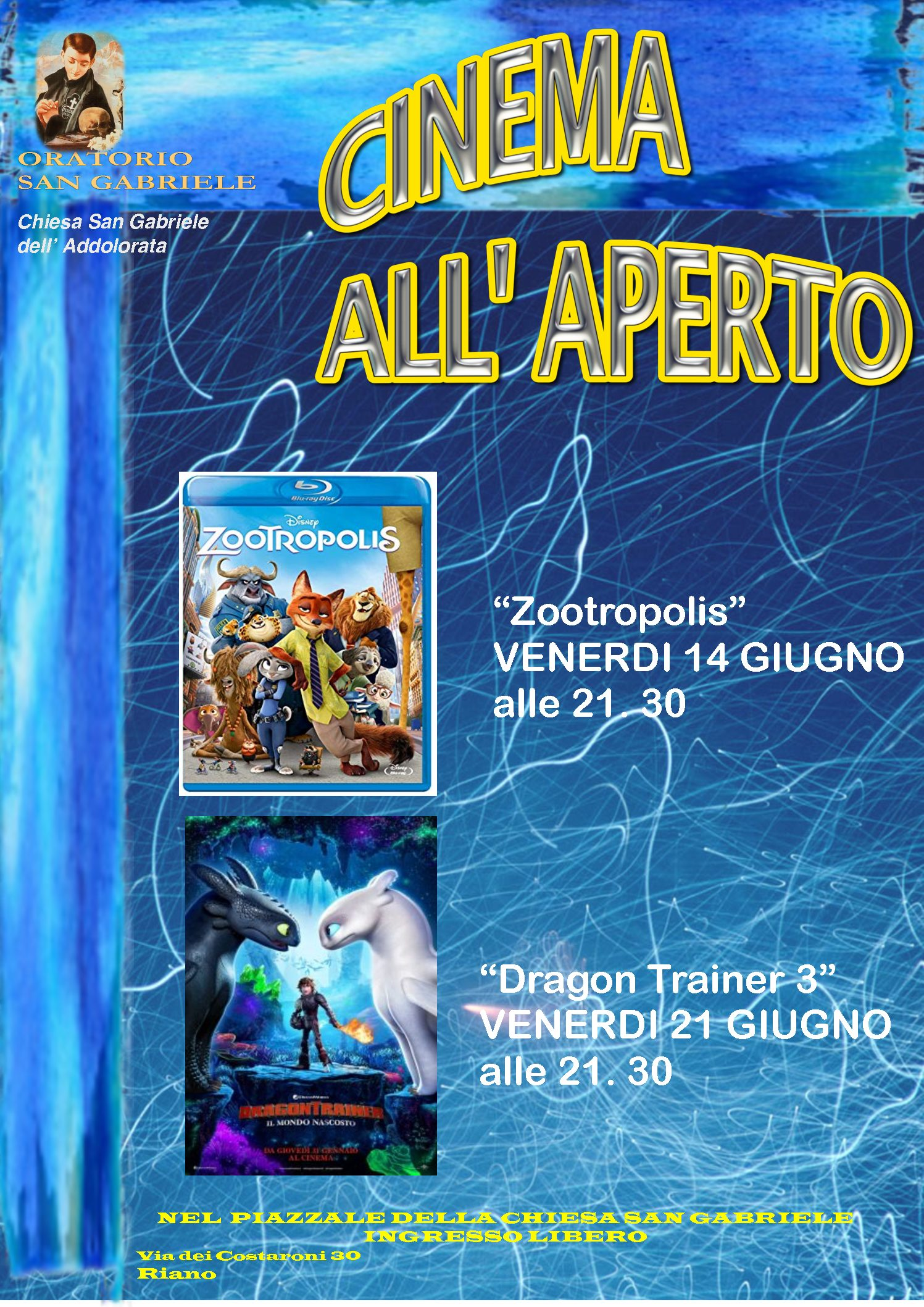 Cinema all'aperto 2019