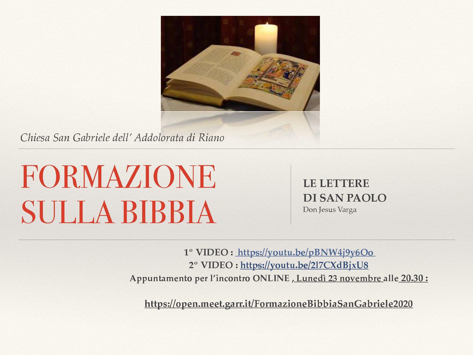 Formazione sulla Bibbia